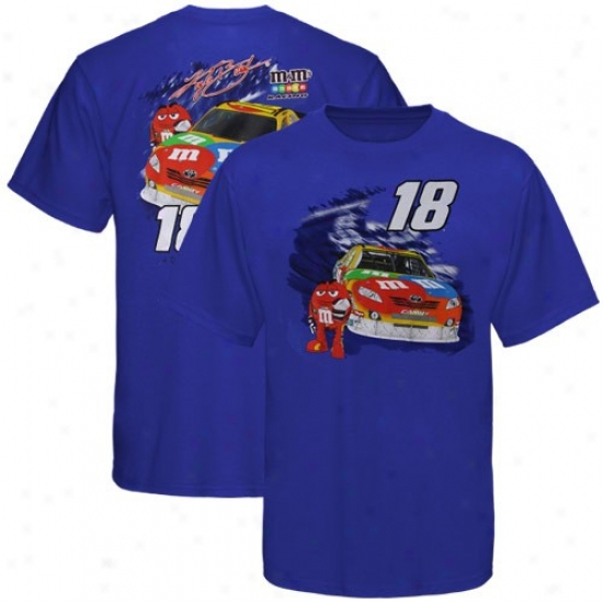 Kyle Busch Tshirts : #18 Kyle Busch Royal Blue Chassis Tshirts