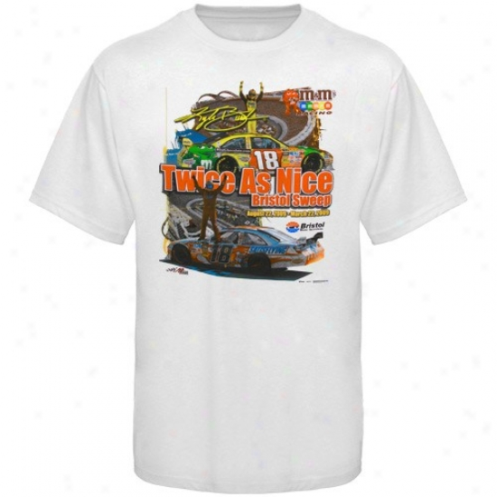 Kyle Busch Tshirts : Kyle Busch White Twice As Nice Tshirts