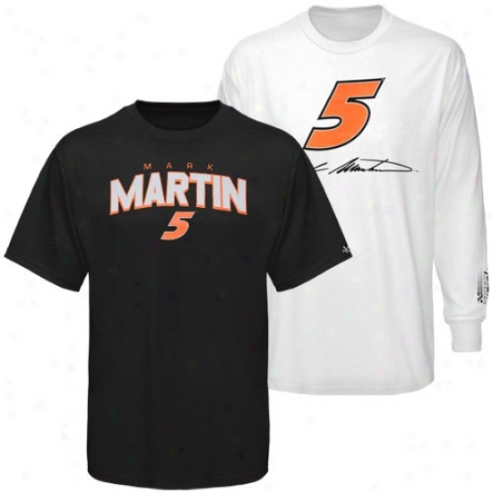 Mark Martin Apparel: #5 Mark Martin Black-white 3-in-1 T-shir Combo Pack