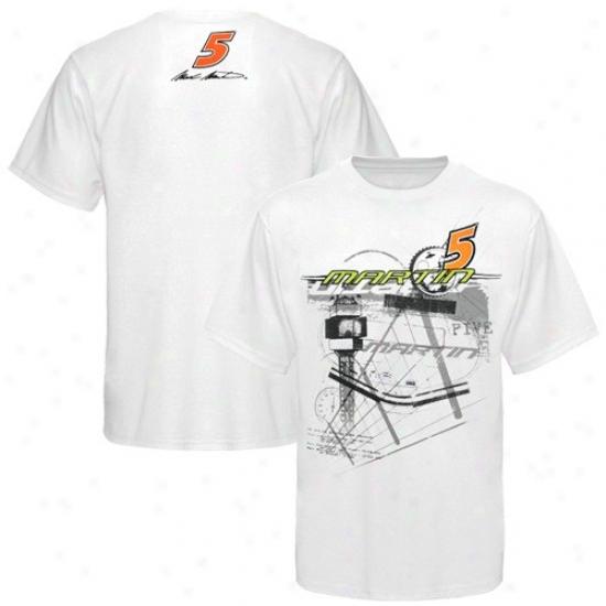 Mark Martin Attire: #5 Mark Martin White Fense T-shirt