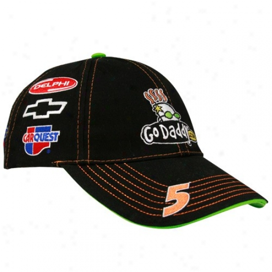 Mark Martin Caps : #5 Mark Martin Black Uniform Adjustable Caps