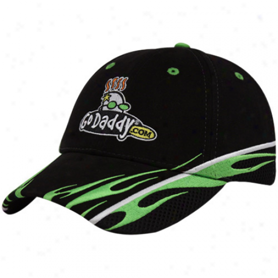 Mark Martin Gear: #5 Mark Martin Black Sponsor Adjustable Hat