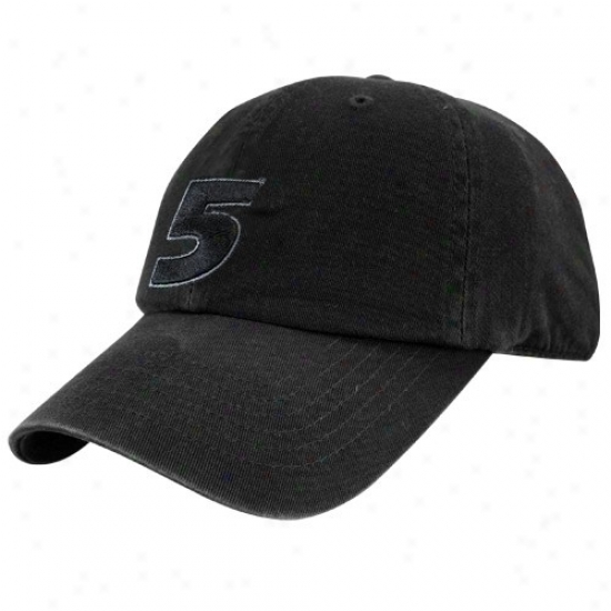 Mark Martin Gear: #5 Mark Martin Blwck Tonal Flex Fit Hat