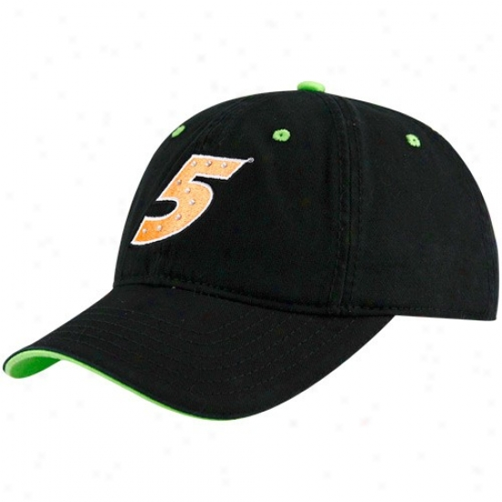 Mark Martin Merchandise: #5 Mark Martin Ladies Black Rhinestone Adjustable Hat