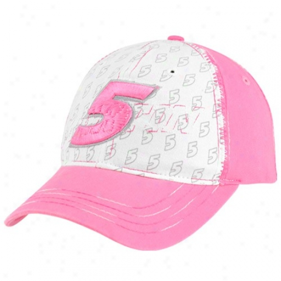 Mark Martin Commodities: #5 Mark Martin Ladies Pink Big Number Adjustable Hat