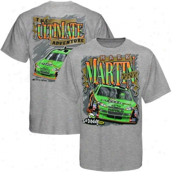 Mark Martin Shirt : #5 Mark Martin Youth Ash Ultimate Adventure Shirt
