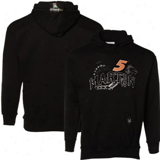 Mark Martin Sweat Shirts : #5 Mark Martin Youth Black Race Appointed time Pullover Sweat Shirts
