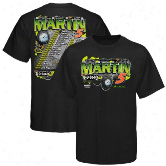 Mark Martin T Shirt : #5 Mark Martin Black 2010 Scroll T Shirt
