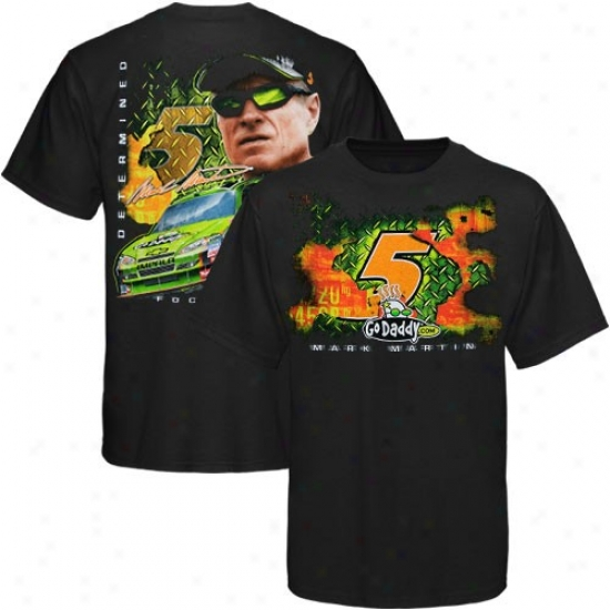 Distinguish by a ~ Martin T-shirt : #5 Mark Martin Black Front And Back T-shirt