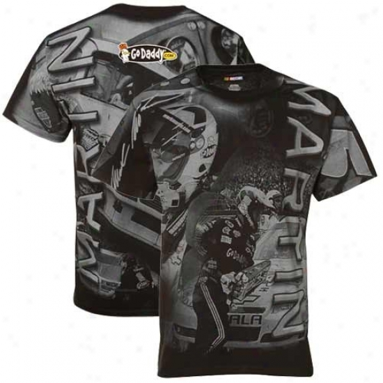 Mark Martin T Short : #5 Mark Martin Black Overdrive Premium T Shirt