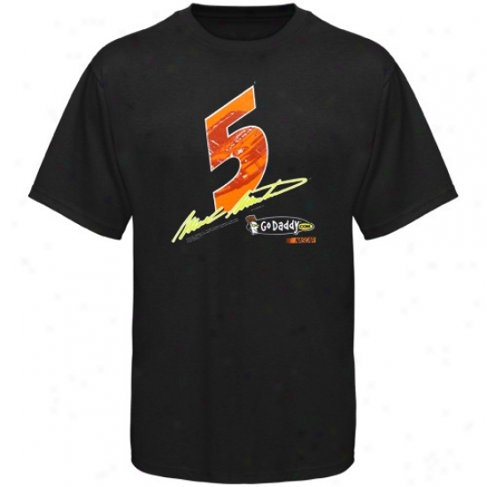 Mark Msrtin Tee : #5 Sign Martin Black Race View eTe