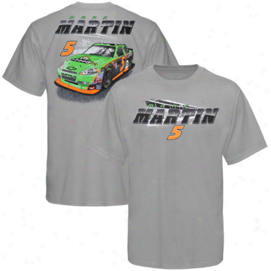 Mark Martin Tee : Mark Martin Youth Gray Banking Tee