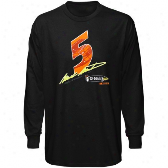 Mark Maritn Tshirt : #5 Mark Martin lBack Race View Long Sleeve Tshi5t