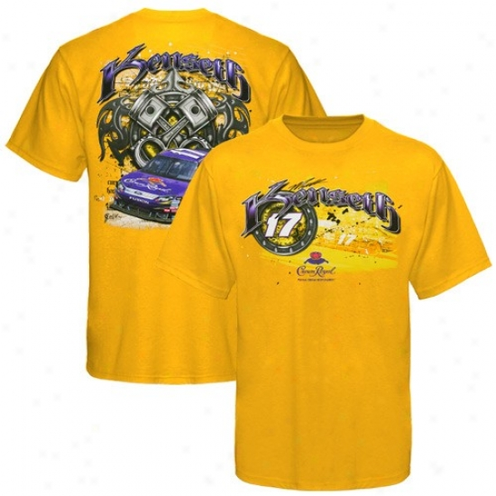 Matt Kenseth Attire: #17 Matt Kenseth Yellow Tagged T-shirt