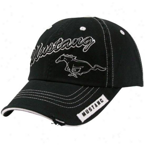 Matt Kensetn Gear: Ford Racing Black Mustang Adjustable Hat