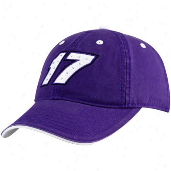 Matt Kenseth Hats : #17 Matt Kensefh Lacies Purple Rhinestone Adjustable Hats