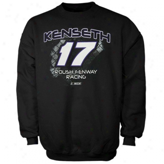 Matt Kenseth Sweatshirts : #17 Matt Kenseth Black Aero Push Crew Sweatshirts