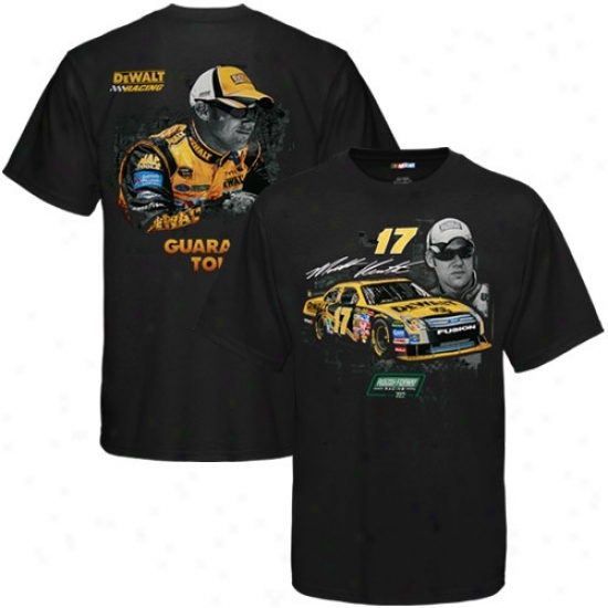 Matt Kenseth T Shirt : #17 Matt Kenseth Black Track Down T Shirt