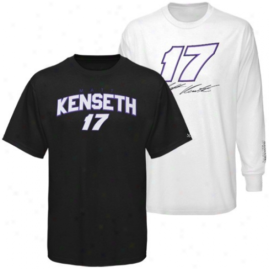 Matt Kenseth T Shhirt : #17 Matt Kenseth Black-whlte 3-in-1 T Shirt Combo Pack