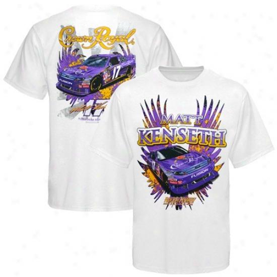 Matt Kenseth T-shirt : #17 Matt Kenseth White Driiver T-shirt