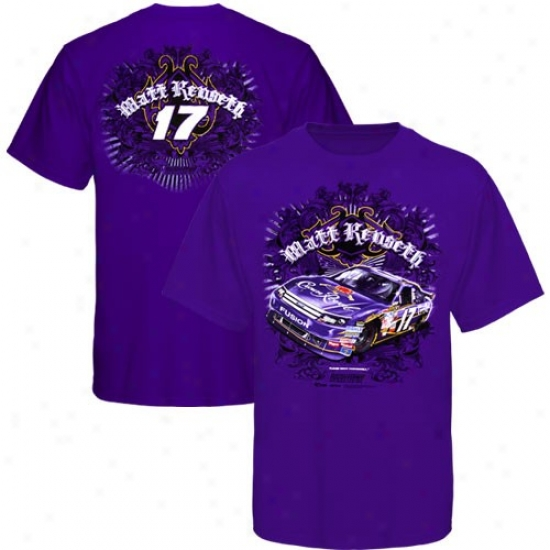 Matt Kenseth Tshirt : Matt Kenseth Purple Racecar Tshirt