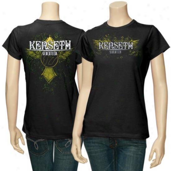 Matt Kenseth Tshirts : #17 Matt Kenseth Ladies Black Burn Fashion Tshirts