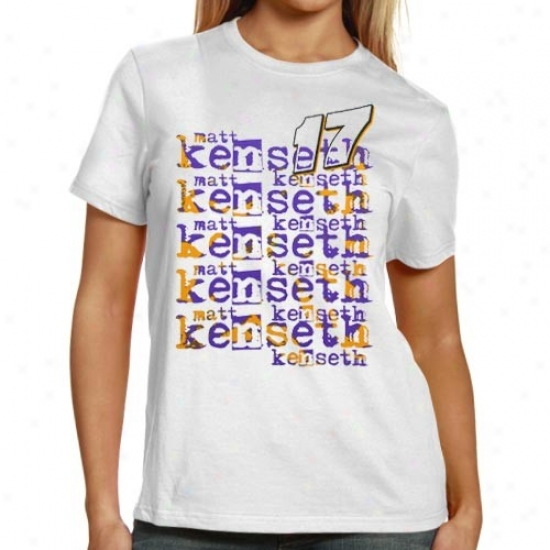 Matt Kenseth Tshirts : #17 Matt Kenseth Ladies White Renew Names Tshirts