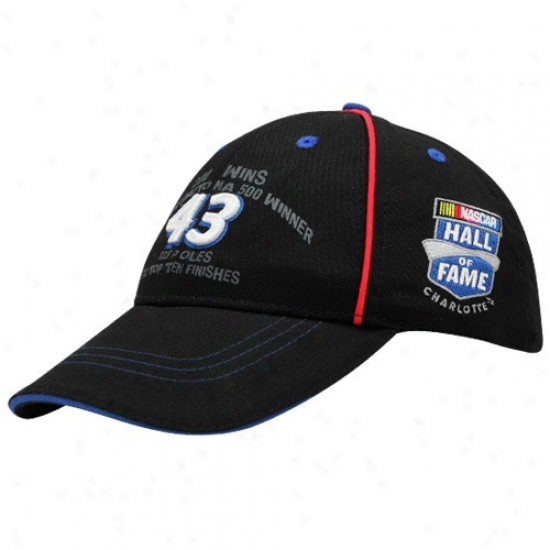 Richard Petty Gear: #43 Richard Inferior Black 2010 Nascar Hall Of Fame Adjustable Hat