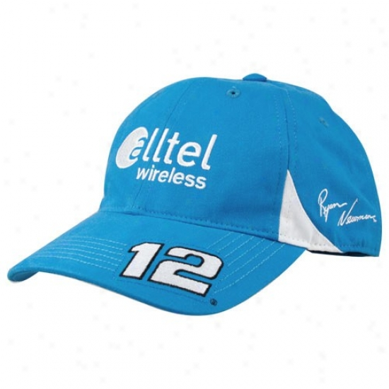 Ryan Newman Hat : Ryan Newman Lihht Blue Pit Hat 2 Adjustable Hat