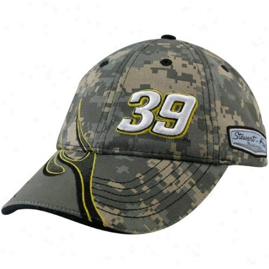 Ryan Newman Hats : #39 Ryan Newman Camo Element Adjustable Hats