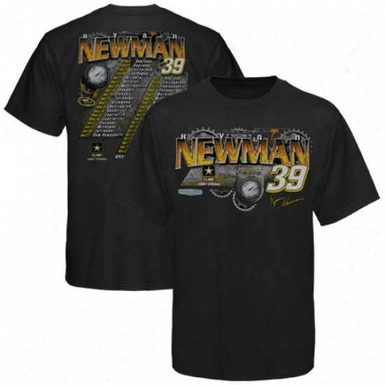 Ryan Newman Shirt : #39 Ryan Newman Black 2010 Schedule Shirt