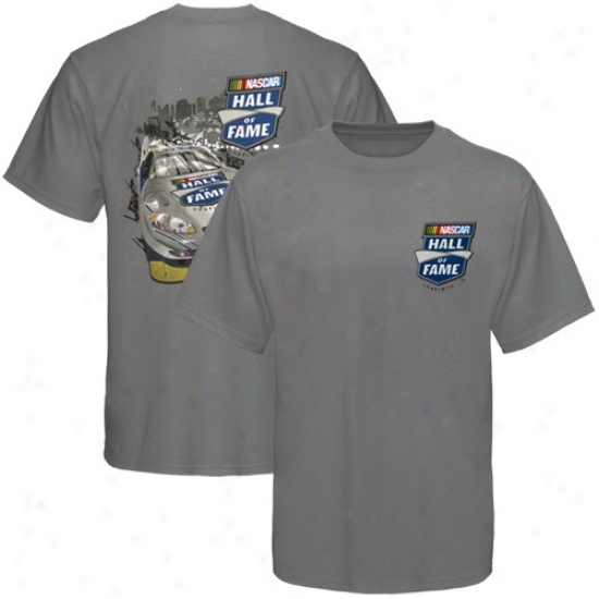 Tony Stewart Apparel: Nascar Charcoal Hall Of Fame Car T-shirt