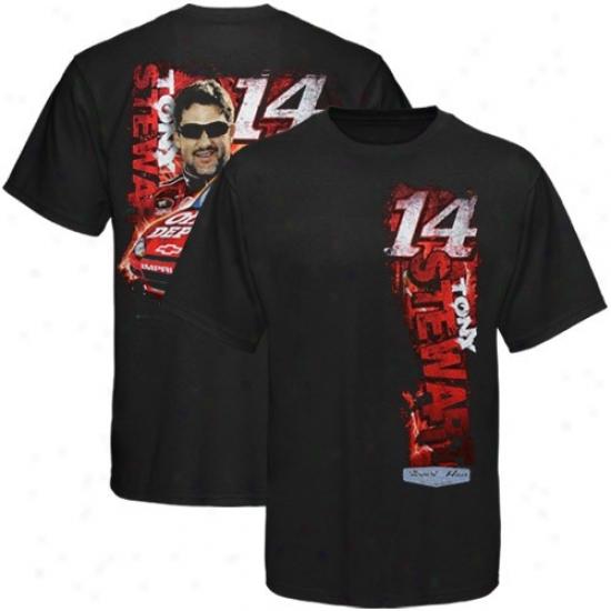 Tony Stewart Attire: #14 Tony Stewart Black Vertical Driver T-shirt