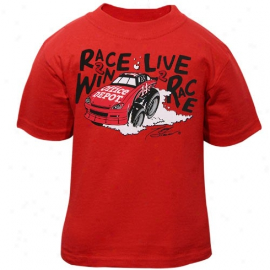 Tony Stewart Attire: #14 Tony Stewart Toddler Red Win T-shirt