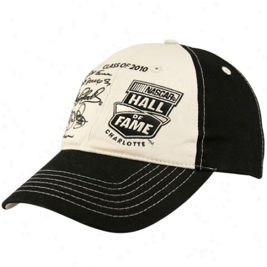 Tony Stewart Cap : Nascar Hall Of Fame Inductees Black-khaki Adjustable Cap