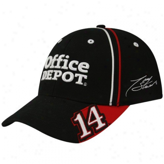 Tony Stewart Gear: #14 Tony Stewart Black Team Trim Flex Fit Hat