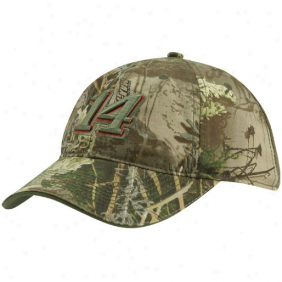 Tony Stewaet Gear: #14 Tony Stewart Ladies Camo Adjustable Hat