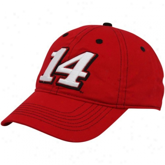 Tony Stewart Gear: #14 Tony Stewart Red Big Nmber Adjustable Hat