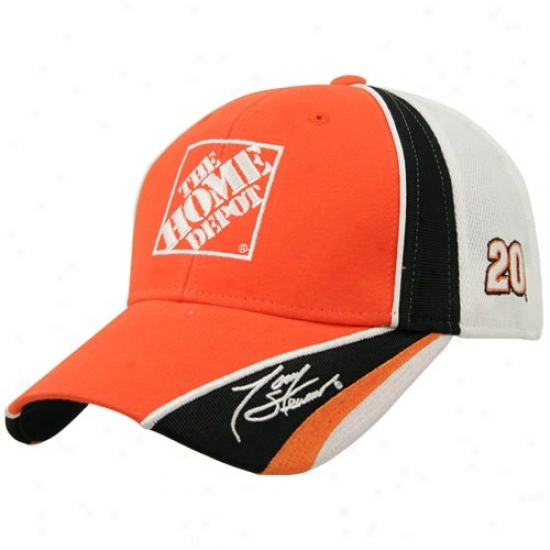 Tony Stewart Gear: Tony Stewart Orange Driver Pit Adjustable Hat