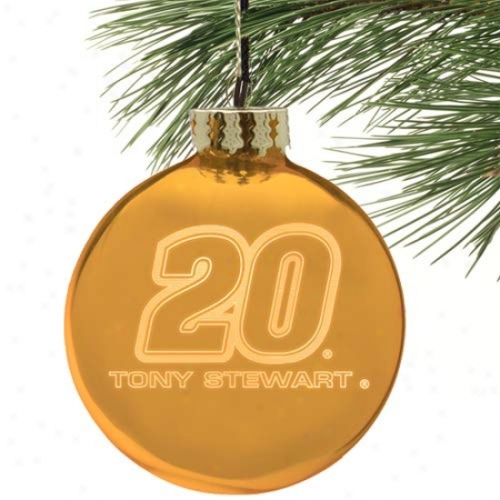 Tony Stewart Gold Etched Laser Light Ornament
