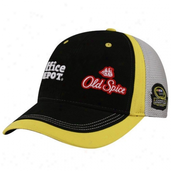 Tony Stewart Hat : #14 Tony Stewart Black-gray 2009 Chase For The Sprint Chalice Adjustable Hat