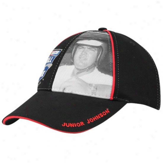 Tony Stewart Hat : Junioe Johnson Nascar Hall Of Fame Black Adjustable Hat