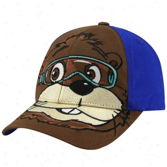 Tony Stewart Hat : Nascar Youth Brown-royal Blue Digger Character Adjustable Hat