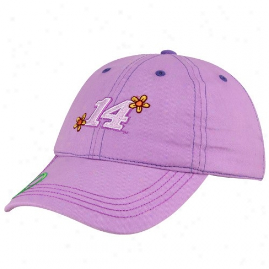 Tony Stewart Hat : Tony Stewart Toddler Girls Lavender Adjustable Hat