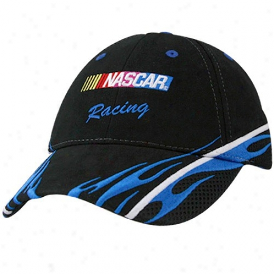 Tony Stewarr Hats : Black Nascar Racing Sponsor Adjustable Hats