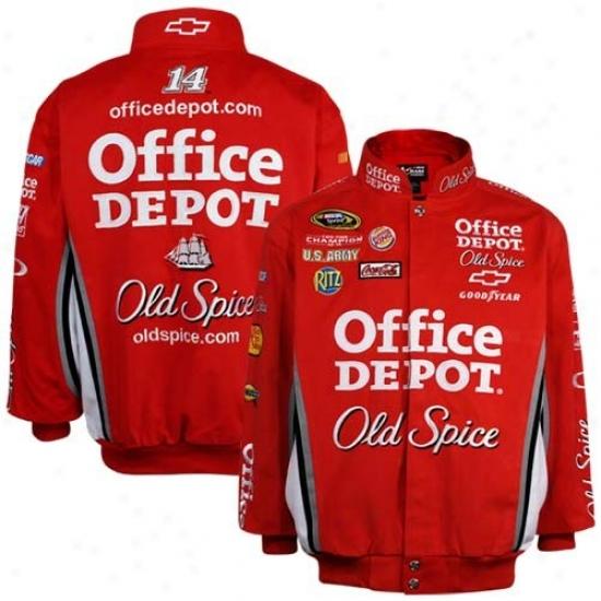 Tony Stewart Jacket : #14 Tony Stewart Red Twill Uniform Jacket