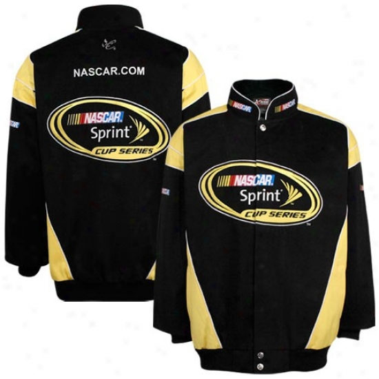 Tony Stewart Jackets : Nascar Sprint Cup Series Black Twill Uniform Jackets