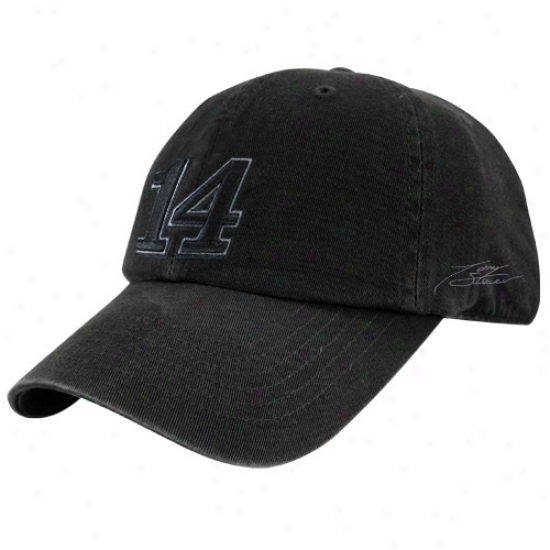 Tony Stewart Merchandise: #14 Tony Stewart Black Tonal Flex Fit Hat