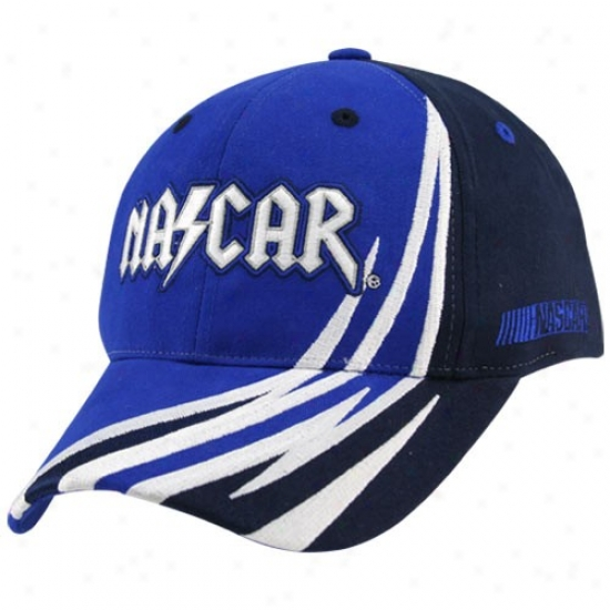 Tony Stewart Merchandise: Nascar Racing Navy Melancholy Side Flame Adjustabke Hat