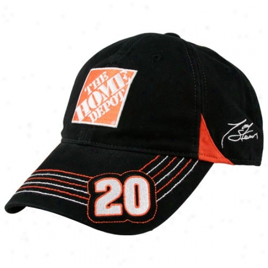 Tony Stewart Merchandise: Tony Stewart Black Pit Cap 2 Adjustable Hat
